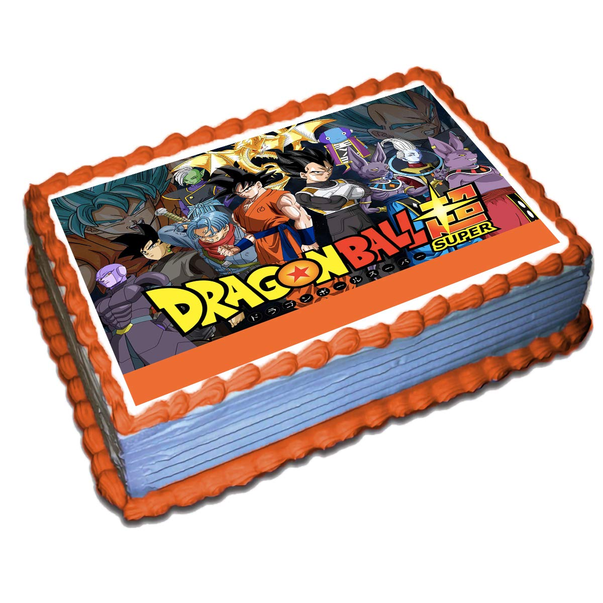 photo about Printable Edible Cake Toppers named Dragon Ball Z Edible Cake Topper Icing Sugar Paper 8.5 x 11.5 Inches Sheet Edible Frosting Image