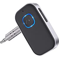 [2021 Upgraded] COMSOON Bluetooth 5.0 Receiver for Car, Noise Cancelling Bluetooth AUX Adapter, Bluetooth Music Receiver…