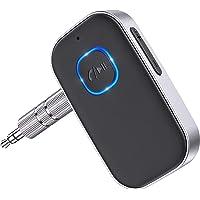 Cocoda Receptor Bluetooth Audio, Adaptador Bluetooth 5.0 Jack con Cable de 3.5mm, Cancelación de Ruido 16Hrs de Uso…