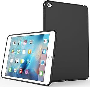 iPad Mini 4 Case , SENON Slim Design Matte TPU Rubber Soft Skin Silicone Protective Case Cover for Apple iPad Mini 4 (2015 Edition) 7.9 Inch Tablet,Black