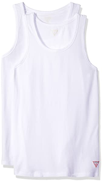 058c770d6c927a GUESS Men s Logo Tank Top 2 Pack at Amazon Men s Clothing store