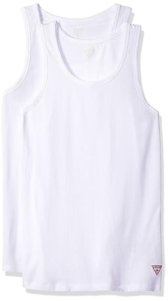 GUESS U77G15, Camiseta de Tirantes para Hombre, Blanco (White A009), Small