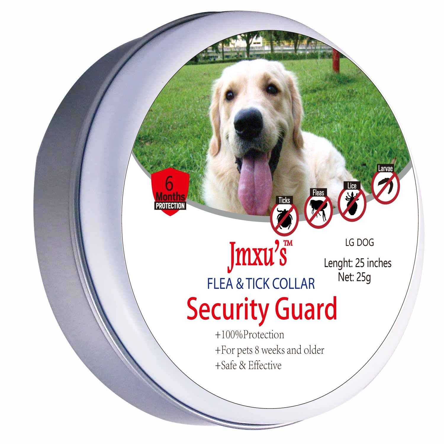 Flea and Tick collar for Large Dog, 6 Month Protection