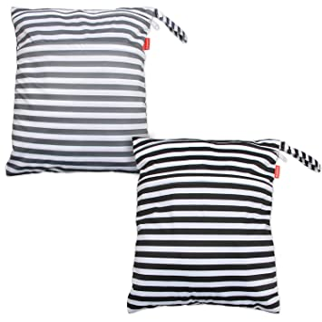 Medium, Gray Arrows+ Black Arrows Clothes Swimsuit and More Pumping Parts Easy to Grab and Go Damero 2pcs Travel Wet and Dry Bag with Handle for Cloth Diaper