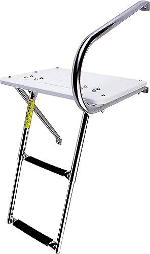 Combo Slide-Up Outboard Swim Platform Ladder (Telescopic) [Garelick] Picture