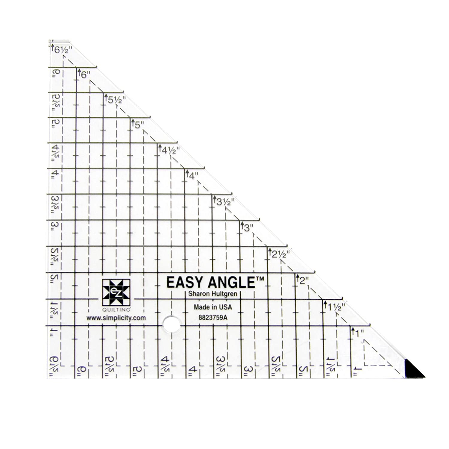 Easy Angle 6.5' Triangle Acrylic Quilting Template