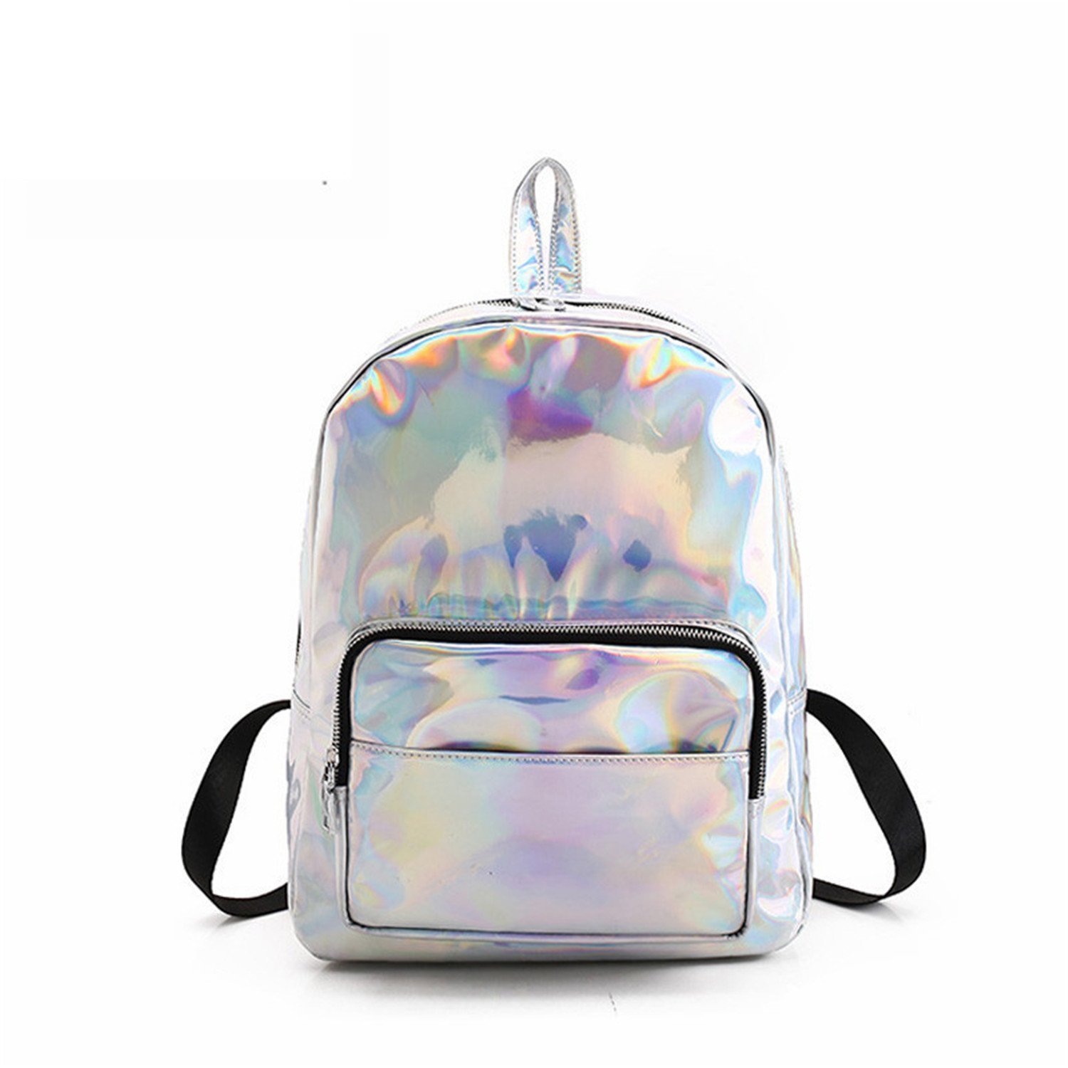 Amazon.com: Brand Silver Backpack Women Bag New Backpack ...