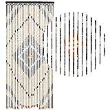 HAB & GUT (DV0151) rideau de porte Design : bois, Coloris : MARRON, Matière : bois, Taille : 90 x 200 cm