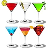 Rink Drink Crystal Martini Cocktail Glasses - 200ml (7oz) - Pack of 6