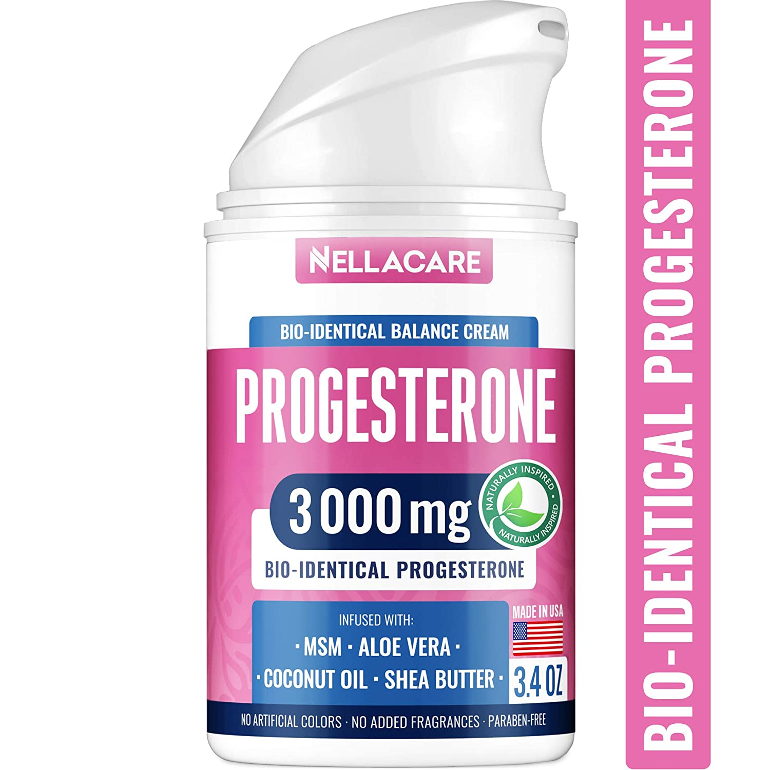 Progesterone Cream - BIOidentical Progesterone for Hormonal Balance - USA Made - 100% Natural PCOS Supplement - Menopause Relief Progesterone Cream for Women - NO Paraben, Soy-Free & Non-GMO