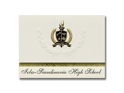 Ordinaire Signature Announcements Iola Scandinavia High School (Iola, WI) Graduation  Announcements, Presidential