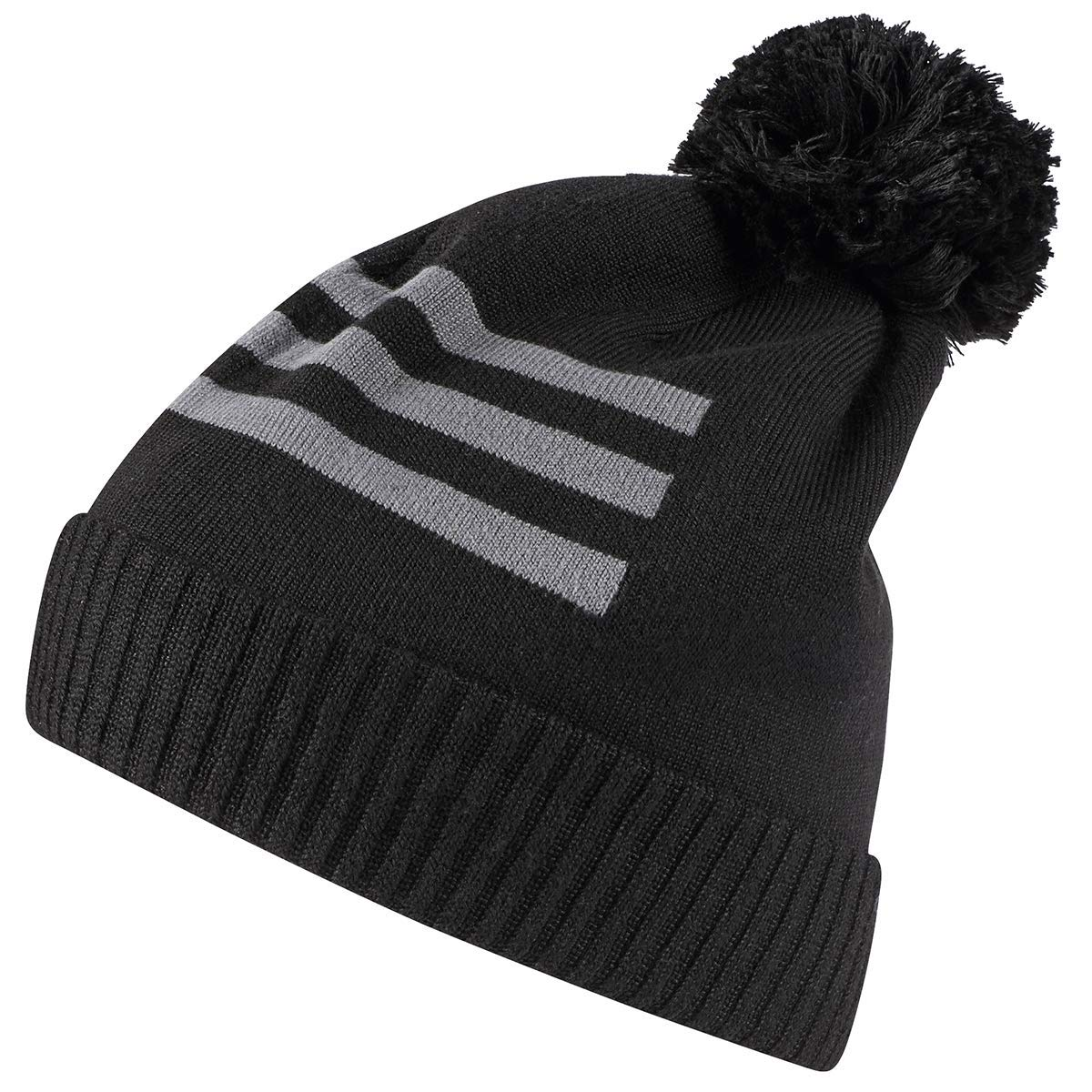 611e74da5ad Amazon.com   adidas Golf 2019 Mens 3-Stripes Pom Pom Winter Golf Beanie Hat  Black   Sports   Outdoors