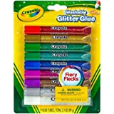 Crayola Washable Glitter Glue, Assorted Colors 9 ea (Pack of 3)