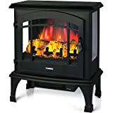 TURBRO Suburbs TS23 Electric Fireplace Heater, Freestanding Fireplace Stove with Realistic Adjustable Flame Effect - CSA Cert