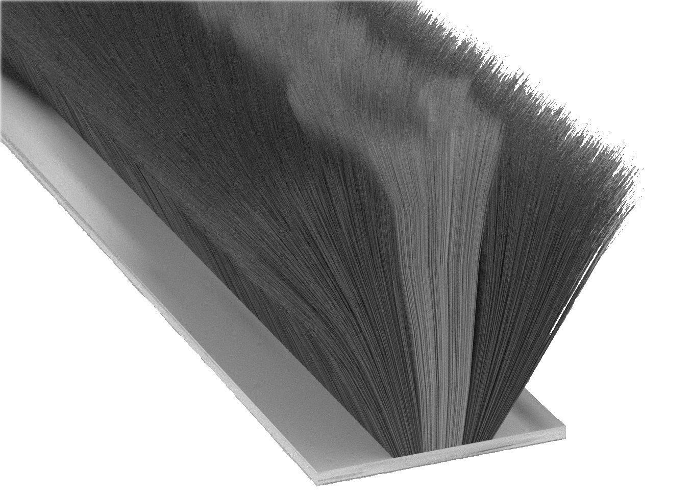 STORMGUARD 05SR750007MGR 7 m Garage Door Self-Adhesive Brush Pile Draught Seal - Black