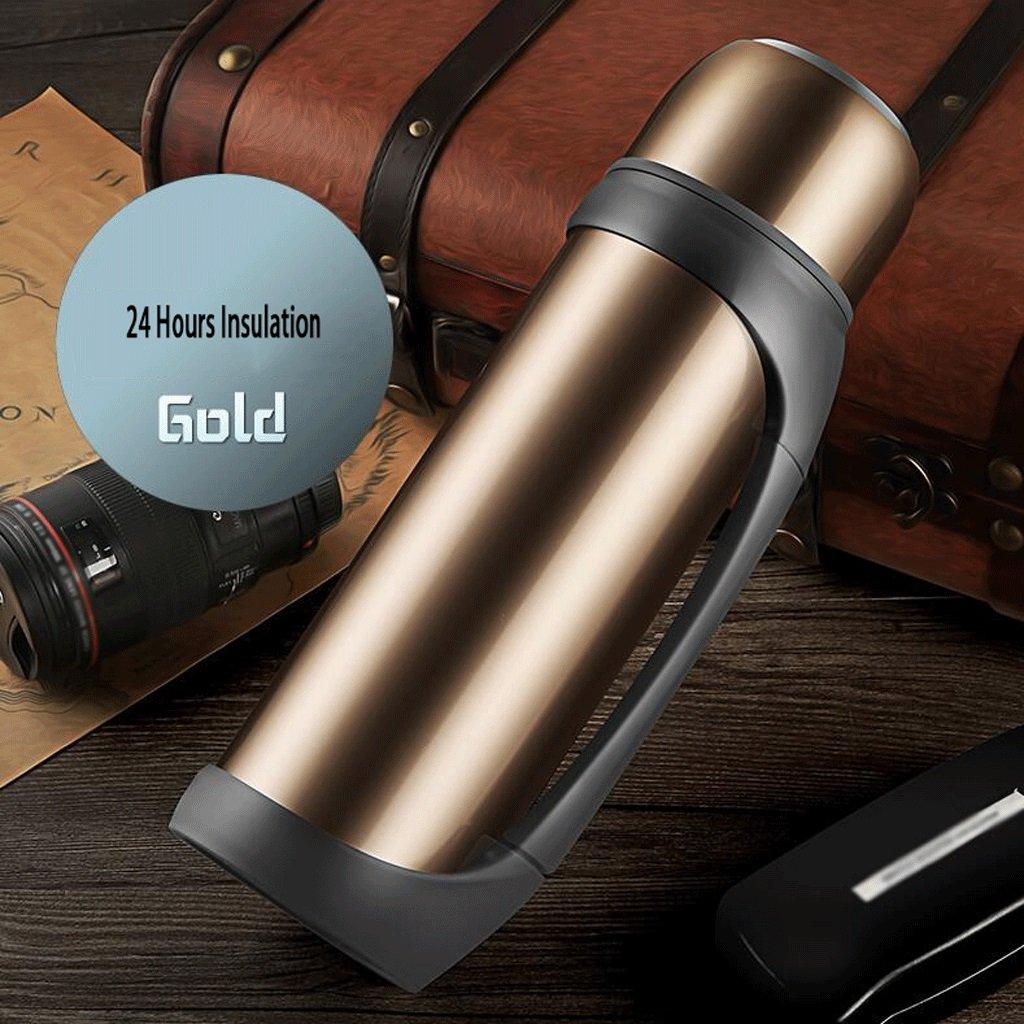 保温ポット 304ステンレス鋼温水ボトル熱保存大容量屋外旅行断熱ポット暖ポットケトル断熱カップ2.2L UOMUN ( 色 : ゴールド ) B07B24G5FD ゴールド ゴールド