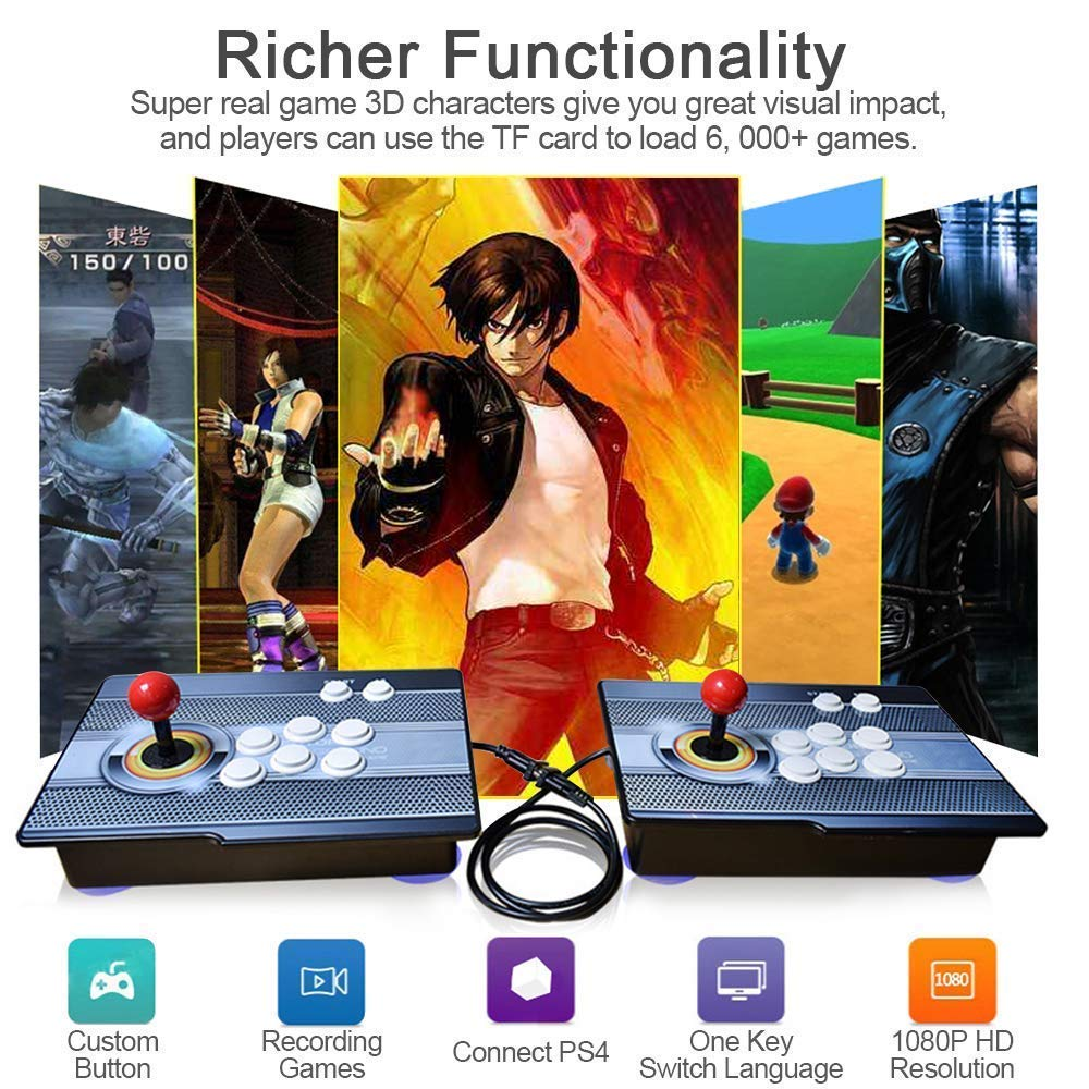 PinPle Arcade Game Console 1080P 3D & 2D Games 2020 2 in 1 Pandora's Box 3D 2 Players Arcade Machine with Arcade Joystick Support Expand Games for PC / Laptop / TV / PS4 (Arcade Game) by PinPle (Image #6)