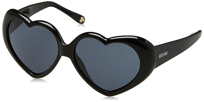 Moschino Mo-58502-S Gafas de sol, Black (No Ext, A), 57 para Mujer