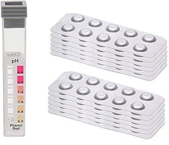 Bayrol Phenol Pastillas para comprobador de piscina valor de pH 250 pastillas