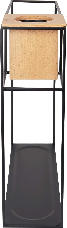 UMBRA Cubist large noire en m/étal Dimension 38.1 x 11.4 x 38.1 cm avec pot de fleurs integr/é Etag/ère Cubist