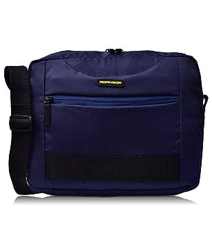 Adamson Unisex Polyester Front Webbing Sling Bag (Blue)