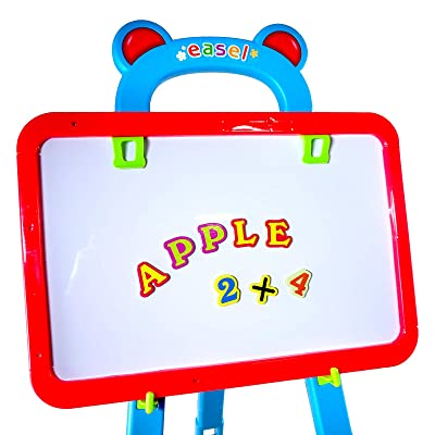 TychoTyke Educational Kids Learning Easel with Magnetic Lettering and Chalkboard Function: Toys & Games