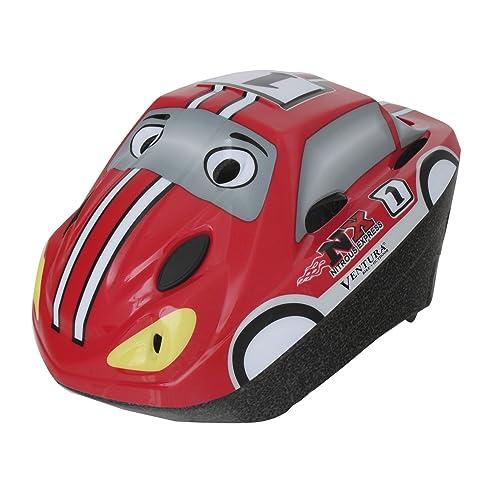 VENTURA Racing Car Casque de vélo pour enfant Rouge Taille M 52-56(tour de tête de 52-56 cm)