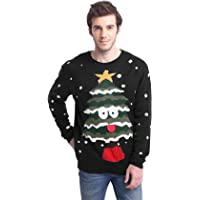 Daisyboutique Men's Christmas Tree Sweater Cute Ugly Pullover