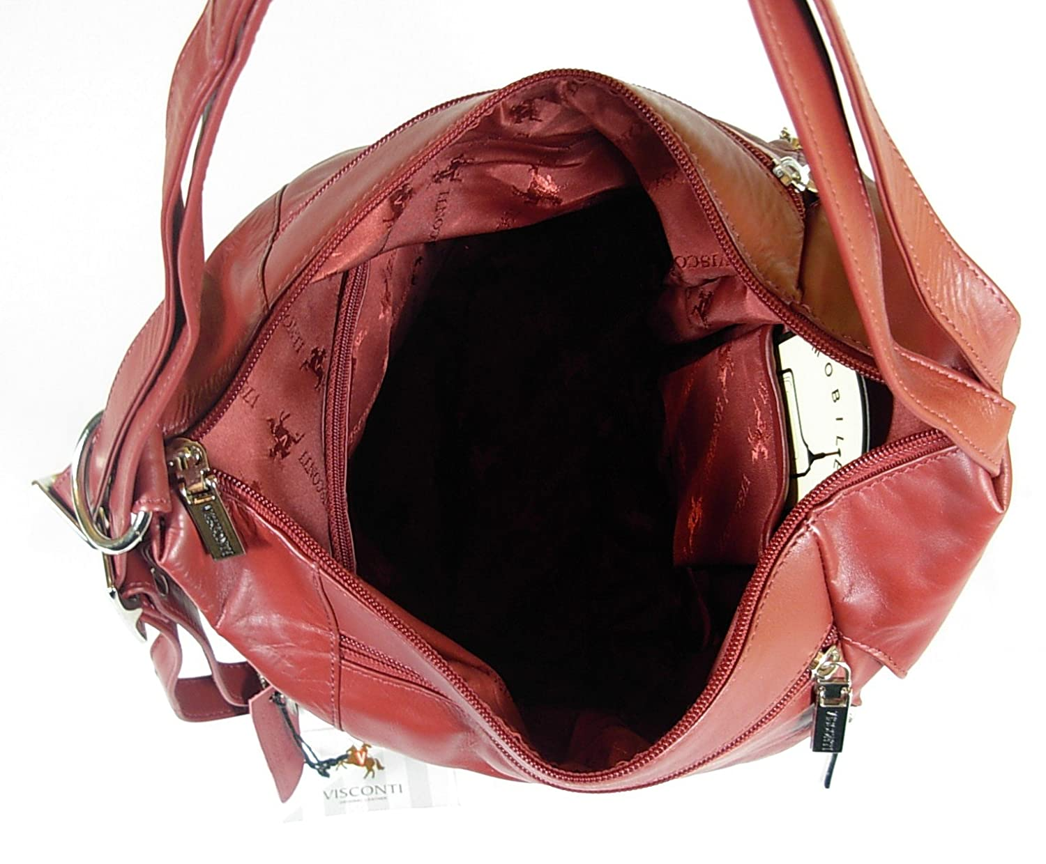 7cc20037e529 New girls ladies gorgeous Visconti dark red soft leather backpack bag style  18357  Amazon.co.uk  Luggage