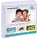 HOMEIDEAS Queen Mattress Protector 100% Waterproof Mattress Cover - Breathable Hypoallergenic Vinyl Free - Fitted 16'' Deep Pocket