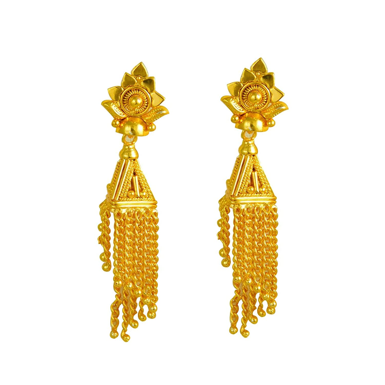 ShoppingHUB Get Closer Indian Ethnic Traditional Bollywood Design Drop Dangle Earrings Fashion Jewelry