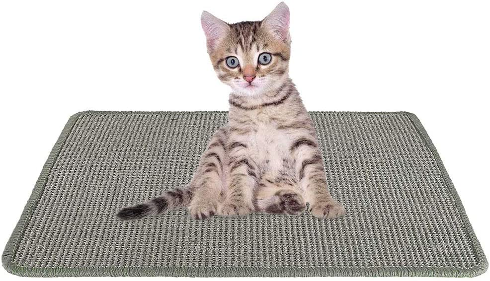 Anti-Slip Cat Playing Sleeping Scratch Toy 15.7 X 23.6 Durable Natural Sisal Protecting Carpet Sofa Furniture Woven Rope Scratching Pad for Cat Grinding Claws SlowTon Cat Scratcher Mat