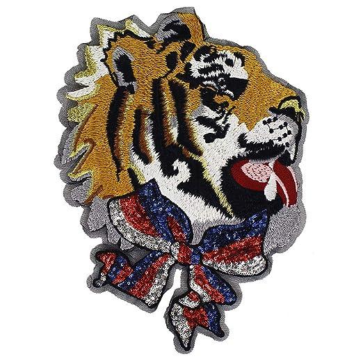 EMDOMO Parche de Corbata de Tigre de la Marca Bordado con ...