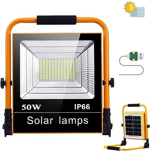 Foco Proyector Construcción, Foco LED Recargable Solar 50W 110 ...