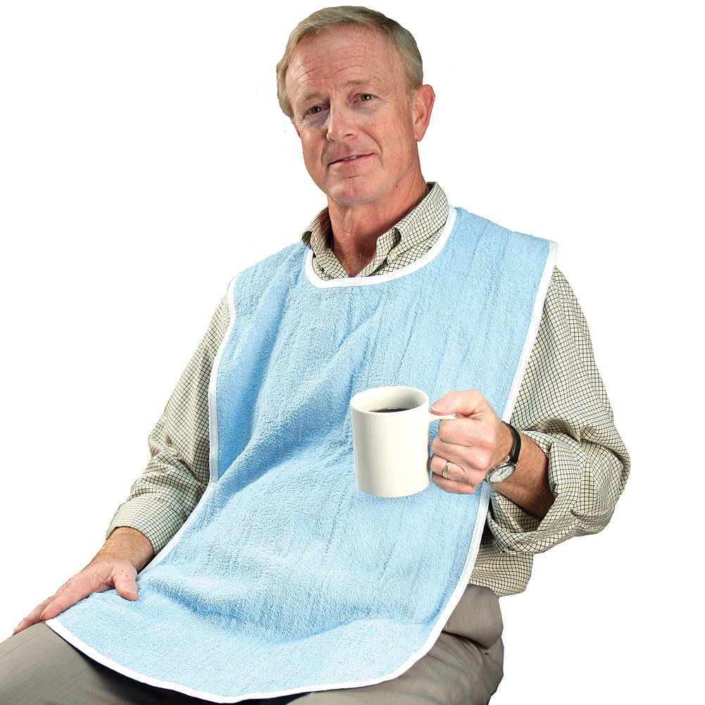 Adult Sized Washable Bibs - Extra Large Clothing Spill Protector (Pack of 3)
