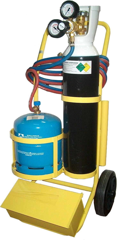 STS-FGR-1000C Equipo portátil para soldadura autógena Oxígeno Butano con cajón para herramientas