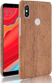 SPAK Xiaomi Redmi 6 Pro,Xiaomi Mi A2 Lite Funda,Grano de Madera de ...