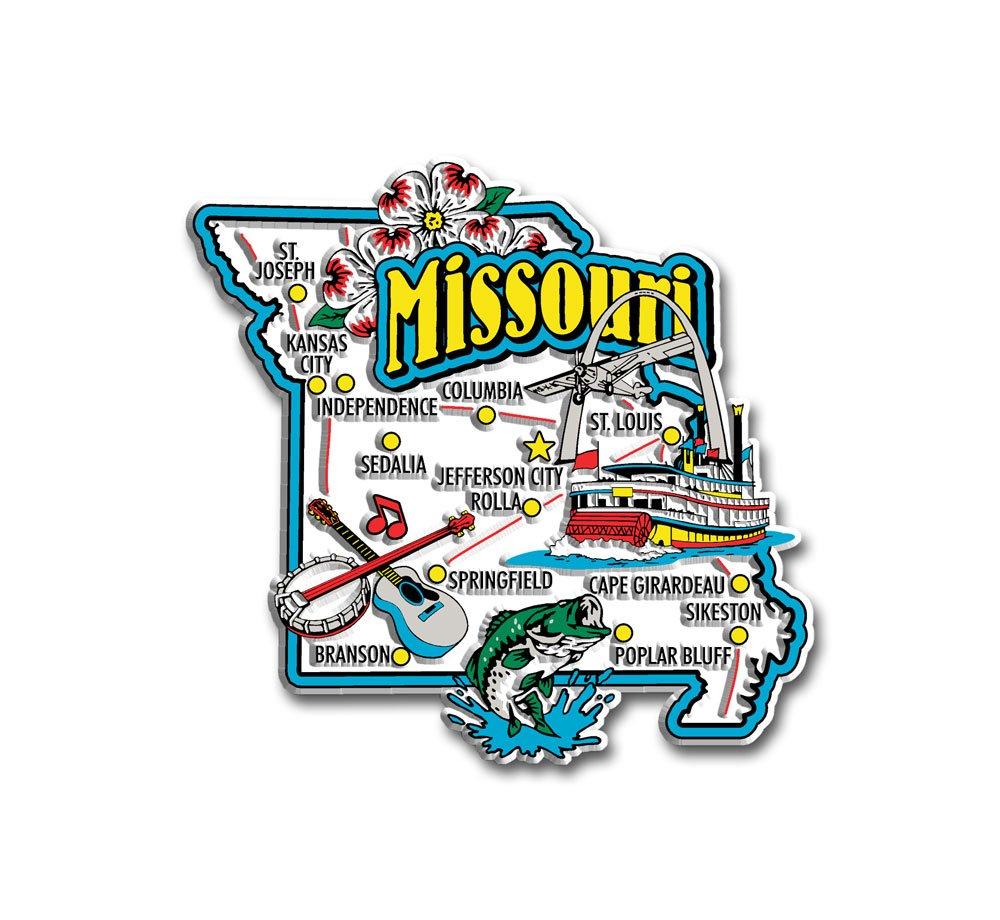 Missouri State Jumbo Map Magnet