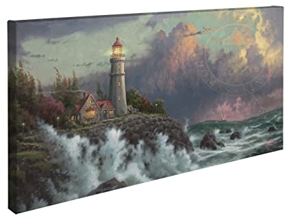 Conquering the Storms - Thomas Kinkade Lighthouse 16