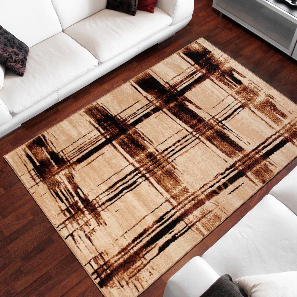 Tapiso Dream Teppich Wohnzimmer Modern Kurzflor Braun Beige Bernstein Meliert Kreise Streifen Schlafzimmer Gästezimmer Esszimmer ÖKOTEX 300 x 400 cm B07HK7Y8LJ Teppiche