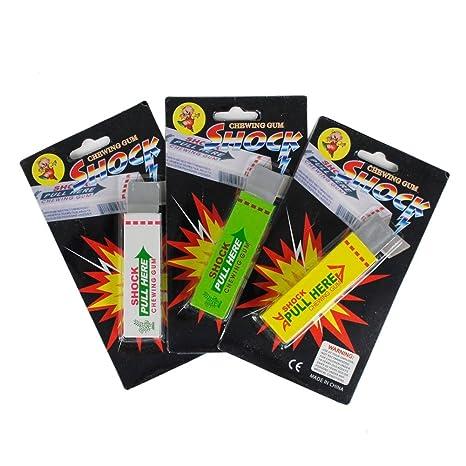 3 Pack Of Shocking Gums Funny Shock Gag (Random Color) Gag Toys & Practical Jokes at amazon