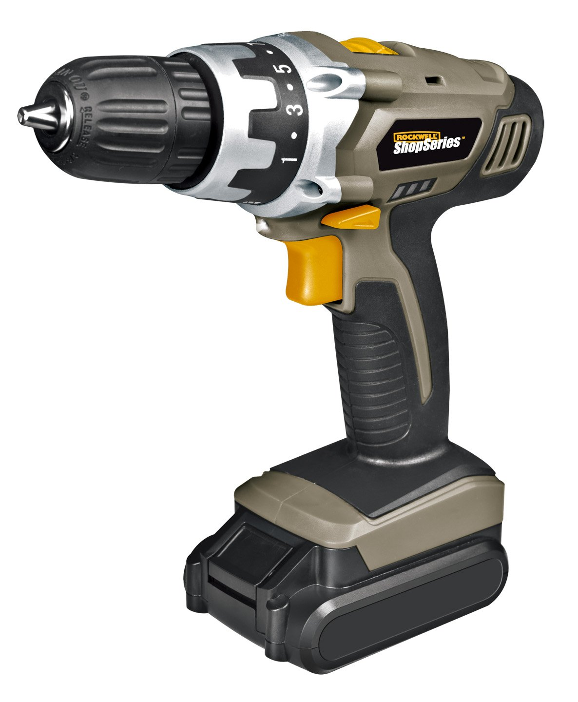 ShopSeries SS2800 3//8 18-Volt Lithium-Ion Cordless Drill//Driver Positec USA