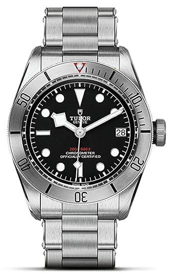 Para hombre Tudor Patrimonio Negro Bahía acero 79730: Tudor: Amazon.es: Relojes