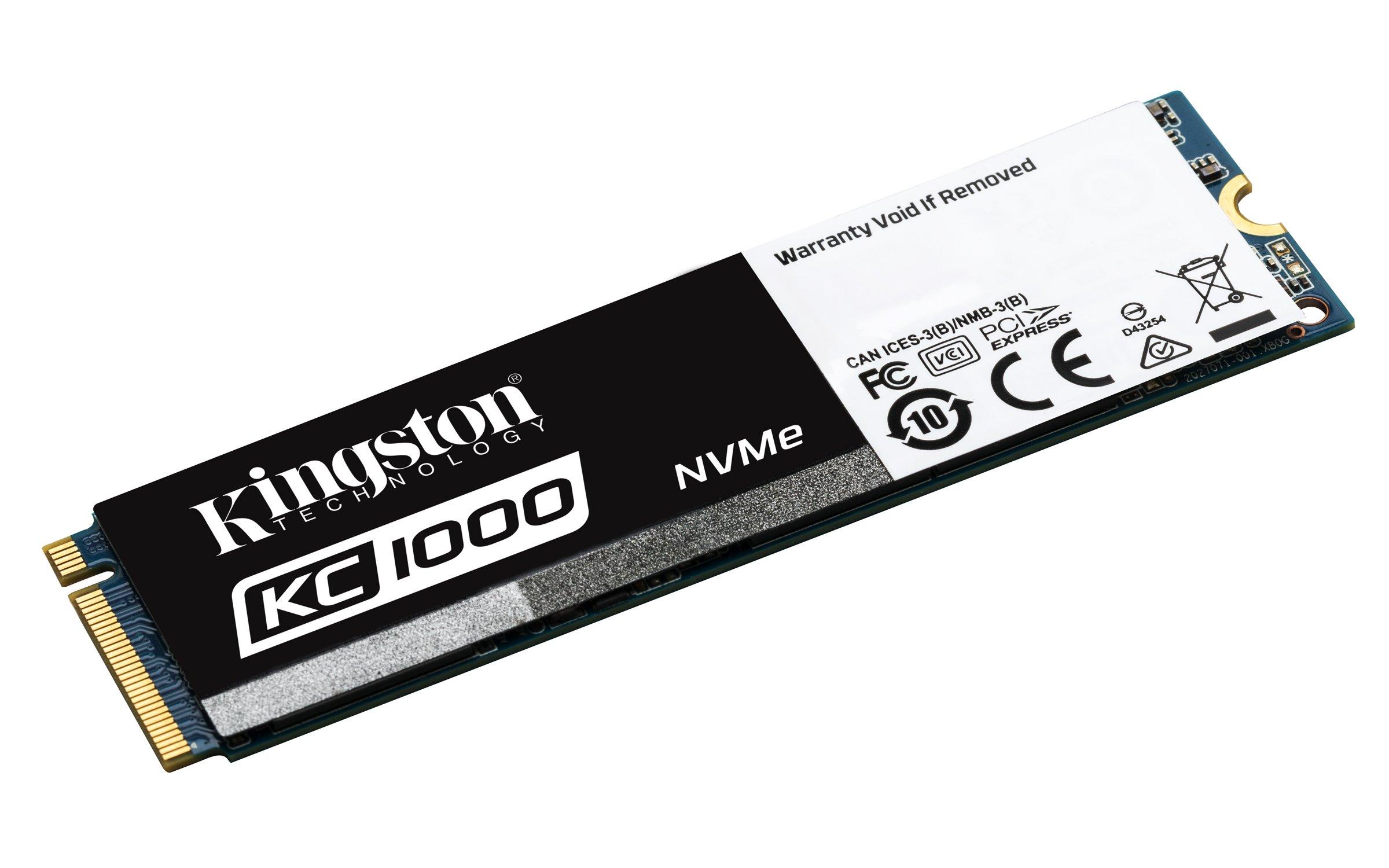 Kingston Digital KC1000 NVMe PCIe 480GB SSD (M.2 2280) SKC1000/480G by Kingston