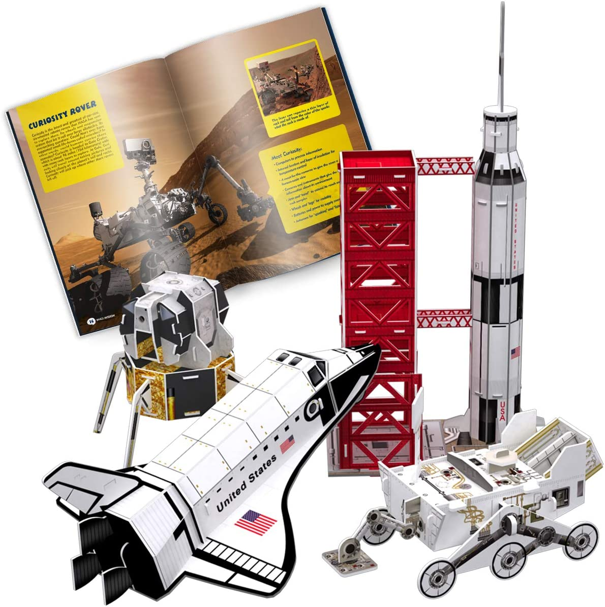 CubicFun Puzzle 3D National Geographic Kits de Modelos de misiones espaciales para niños y Adolescentes con folleto