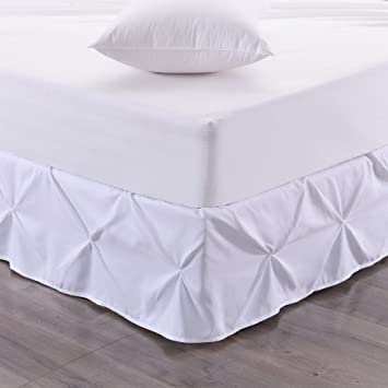 Gray Queen Sweet Home Collection Dust Ruffle with 14 Drop Pinch Pleat Bed Skirt