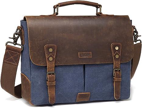 Sacoche Homme Cuir Vintage style Luxe décontracté sac bandoulière PU Véritable