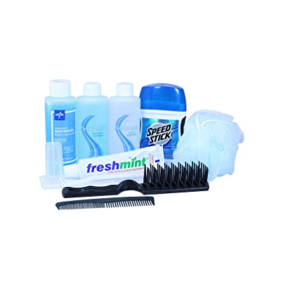 Plus Personal Hygiene Kit For Men (Not for Airline Carry-On) Great for Road Trips, Long Haul, Youth Camps and Boarding School (6-Pack)