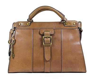 587620374 Amazon.com: Fossil Vintage Revival Satchel Shoulder Bag Pecan: Shoes