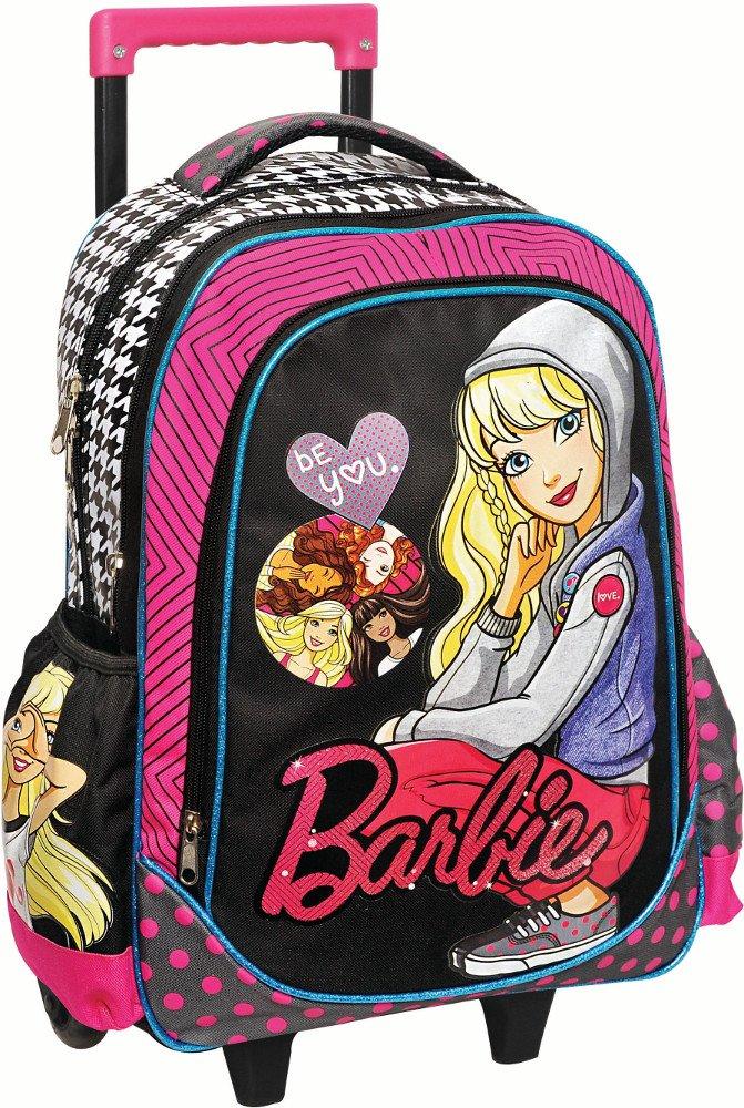 c5e6f0e482e3c4 Barbie Mattel Sac a dos Cartable à roulettes pour l école 34956074 ...
